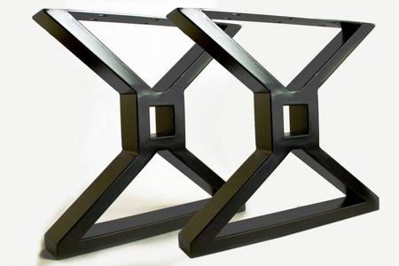 Kovové stolové nohy square X  - TF1001