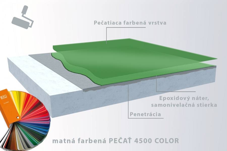 IN-EPOX 4500 COLOR matná farbená finálna vrstva