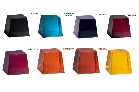 Transparentné pigmenty pre živicu na zalievanie