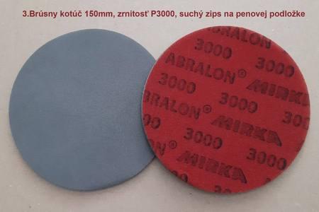 Brusny výsek na penovej podlozke, zrnitost P3000 na suchy zips