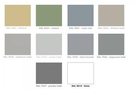 Bežne dostupné farby liatych epoxidových podláh
